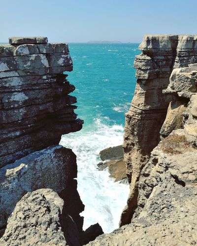 Beauty In Nature Horizon Over Water Rock - Object Nature Water Sea Scenics Beauty In Nature Tranquility Landscape Vacations Baleal Portugal The Week On EyeEm