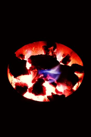 Relief in Winter.. A charcoal Winter Charcoal Flame Wintertime Heat Warmth In The Night Heater Fire