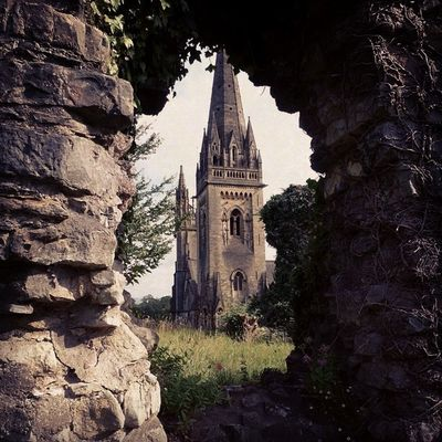 Llandaff Cathedral - by Glass Angel Castle Place Cathedral Dreamplace