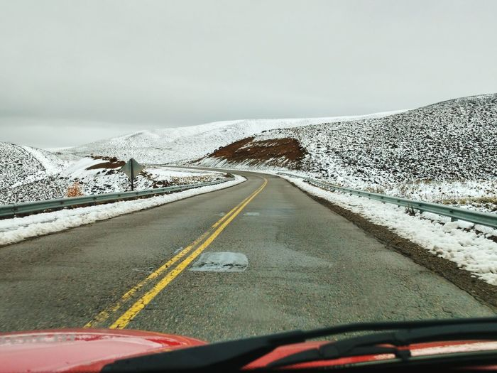 Ruta 40 Patagonia Argentina Viaje Trip Road Route Chubut Nieve Invierno On The Way