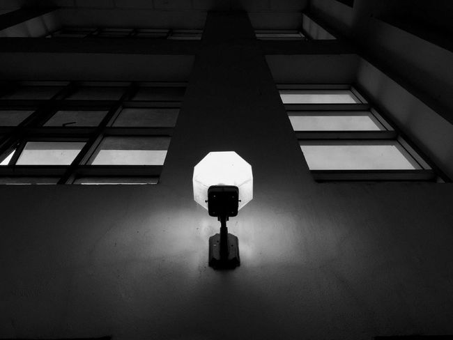Lamps and windows Lamps And Windows White And Black Light Effect Light And Shadows White And Black Built Structure Architecture Indoors  No People Lighting Equipment Low Angle View Wall - Building Feature Window