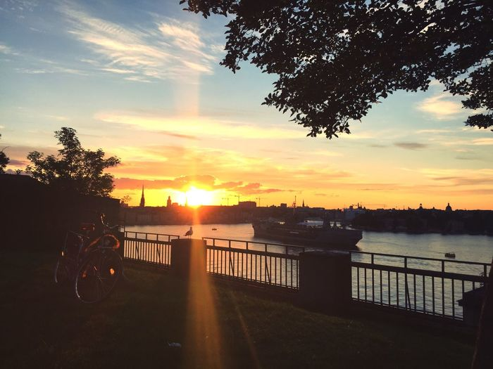 Sunset Sweden Bike Island Summer Travel Travel Photography Travel Destinations Stockholm Street Street Photography Scene Nature Golden Hour