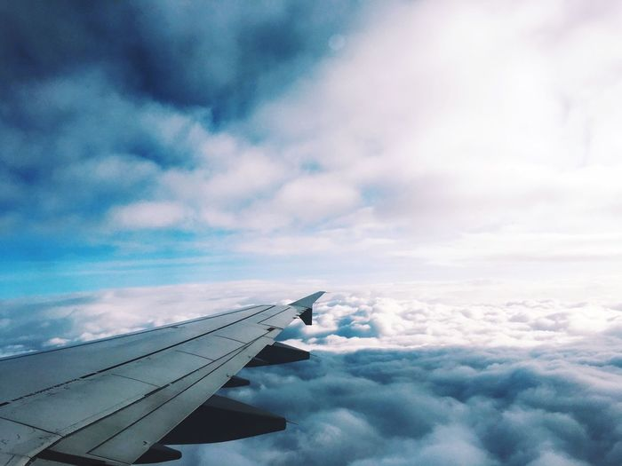 The Journey Is The Destination Above The Clouds Blue Sky Wings Above The Wing
