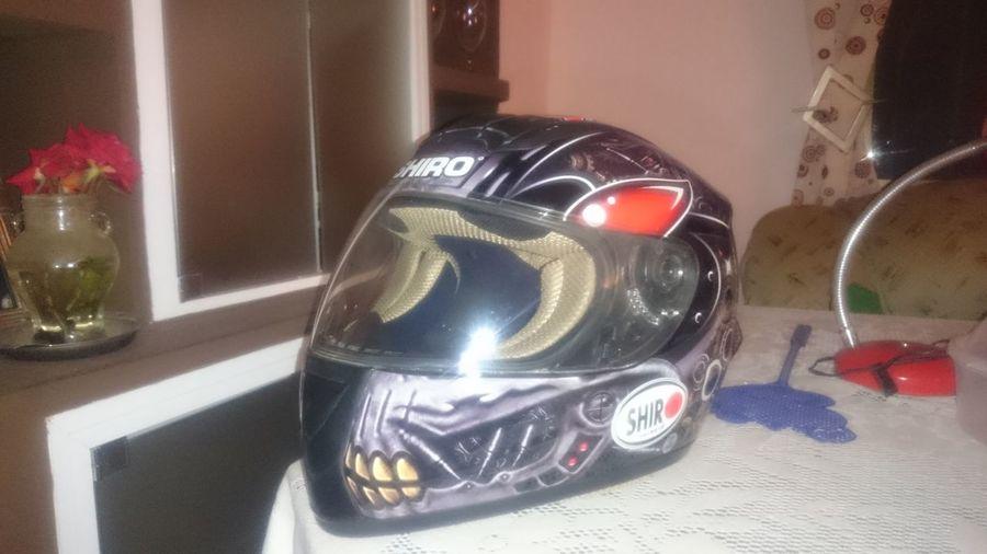 Casco Moto Skull HEAD Dientes Visera Bonito Shiro