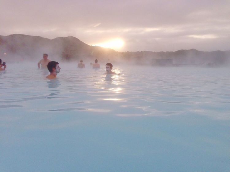 Blue Lagoon 💙 Iceland North Europe Europe Trip Iceland_collection Iceland Memories Iceland Trip Icelandic_explorer Hot Spring Relaxing Cold Temperature Feeling Good Enjoying Life EyeEm Gallery Bluelagoon Blue Water Winter Wonderland Smile Wonderful Taking Photos Real People IPhone Photography ブルーラグーン アイスランド 温泉