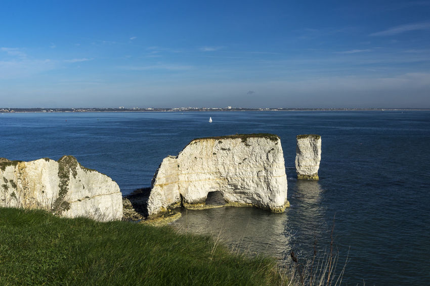 Old Harry Rocks, Studland, Dorset, UK Dorset Beauty In Nature Day Horizon Over Water Nature No People Old Harry Rocks Outdoors Rocks Rocks And Sea Rocks And Water Scenics Sea Sky Tranquil Scene Tranquility Water