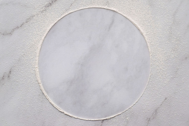 High angle view of white light on wall