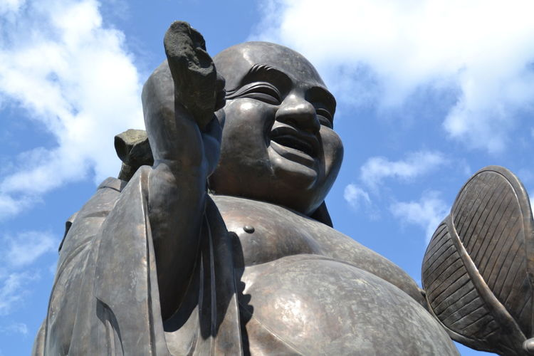 Biggest Buddha In Asia Architecture Art And Craft Belief Buddha In Ninh Binh Cloud - Sky Craft Creativity Day Face Of Buddha Image History Human Representation Low Angle View Male Likeness Nature No People Religion Representation Sculpture Sky Spirituality Statue Sunlight Vietnam Buddha