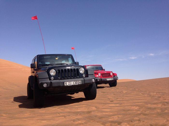 Offroad Jeep Jeep Wrangler  Desert UAE Dubai Sand Sky Motorsport Car