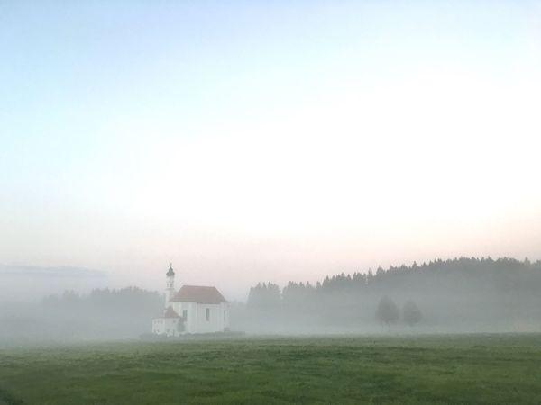 Foggy Morning Foggy Church Foggy Weather Bavarian Church