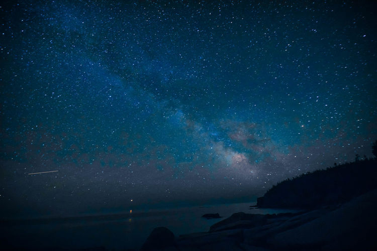 Maine Acadia National Park Acadianationalpark Astronomy Beauty In Nature Galaxy Idyllic Milky Way Nature Night No People Outdoors Scenics - Nature Sea Sky Space Star Star - Space Star Field Tranquil Scene Tranquility Water