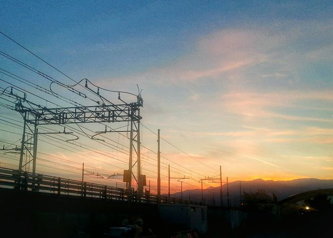 Sunset Sky Dramatic Sky Electricity  Outdoors Cloud - Sky No People Electricity Pylon Day Electrical Lines Raylway Smartphone Photography Note 2 Camera Zoom FX in HDR mode. Bracketing Multiple Exposures