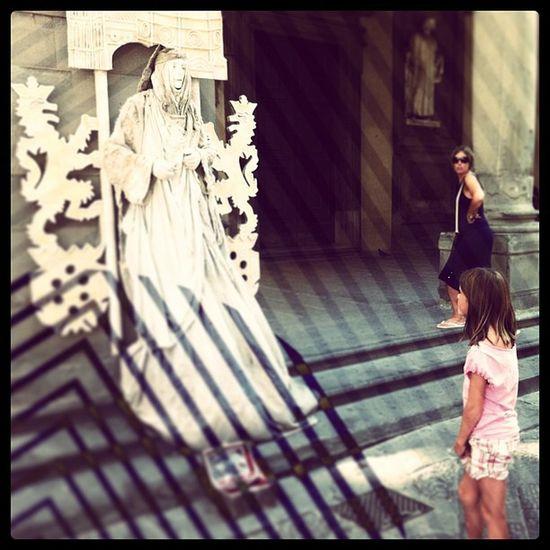 Piazza Della Signoria Florence italy real live man statue instapic Instagram art artist