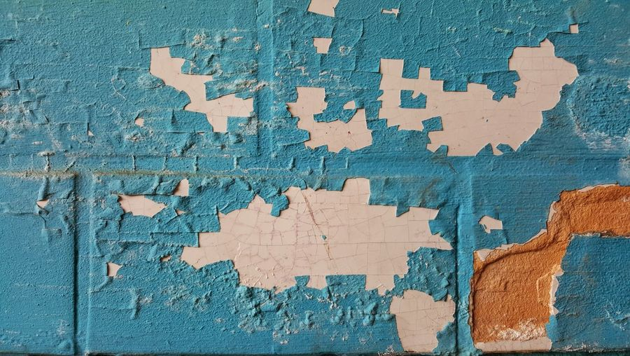 Full Frame Puzzle  Wall - Building Feature Backgrounds Pattern Brick Wall Wall Brick Textured  Blue Still Life Built Structure Shape Day Close-up