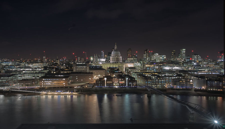 St. Paul's cathedral from Tate Modern London Long Exposure Thames River Thames River Side River View Panorama Nightphotography St. Paul's Cathedral LONDON❤ Water City Cityscape Urban Skyline Illuminated Skyscraper Modern Nightlife Business Finance And Industry Downtown District City Life Urban Sprawl Light Painting