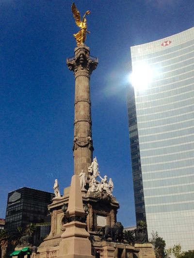 Statue Day Blueskiesandsunshine AngelDeLaIndependencia ColorsOfMexico Mexico Mexico City
