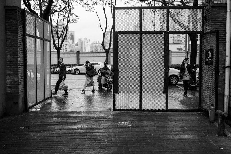 Blackandwhite Door M97 Men Monochrome Shanghai Streets Shanghai, China