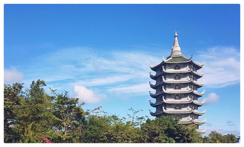 Chua Linh Ung Architecture Building Exterior Built Structure Cloud - Sky Day Outdoors Place Of Worship