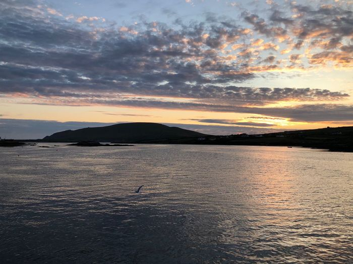 Portmagee Water Sky Scenics - Nature Sea Beauty In Nature Sunset Tranquility Tranquil Scene Cloud - Sky No People Idyllic Nature Reflection Seascape Horizon Over Water
