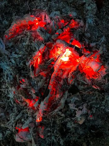 Still burning inside No People Outdoors Heat - Temperature Lava Nature Close-up Day Fire Ember Embers0ashes Photography Night Red ahit with iPhone 7+ EyeEmNewHere