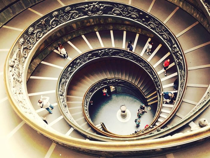 Rome Spiral Staircase Architecture Vatican Museum Design Magnificent First Eyeem Photo