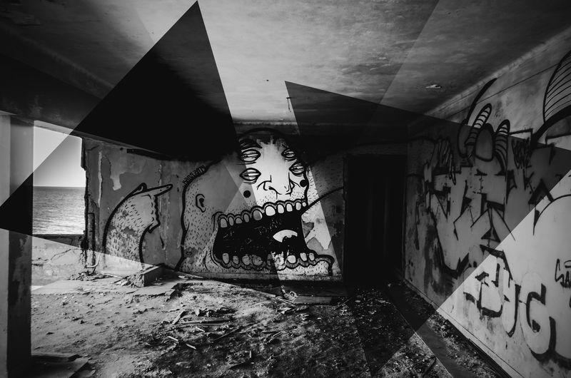 Built Structure Architecture No People Indoors  Day Close-up Graffiti Art Graffiti Graffiti Wall Graffitiart Cut And Paste