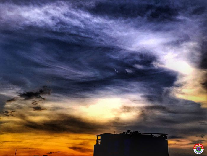 Sunset Low Angle View Architecture Built Structure Sky Building Exterior Cloud - Sky High Section Cloud Cloudscape Dramatic Sky Beauty In Nature Architectural Feature Cloudy EyeEm Bangladesh Bangladesh 🇧🇩 Natural Bangladesh