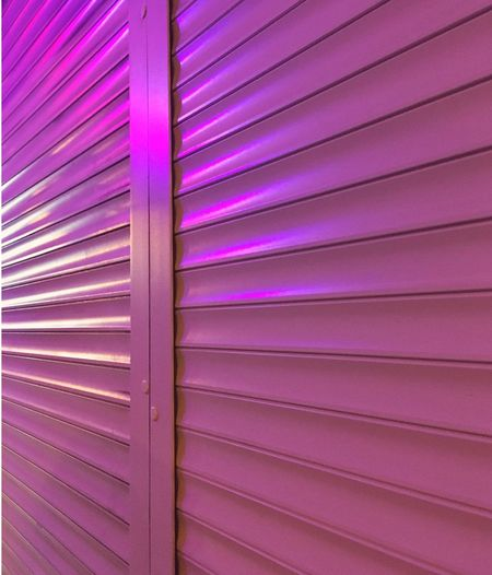 Full Frame Backgrounds Pattern No People Pink Color Purple Close-up Metal Wall - Building Feature Textured  Built Structure In A Row Multi Colored Repetition Architecture Security Corrugated Iron