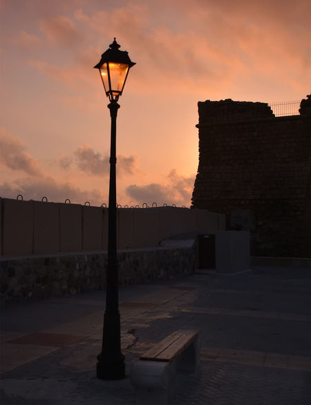 By the castle Architecture Beauty In Nature Building Exterior Built Structure Cloud - Sky Day Illuminated Nature No People Outdoors Silhouette Sky Street Light Sunset