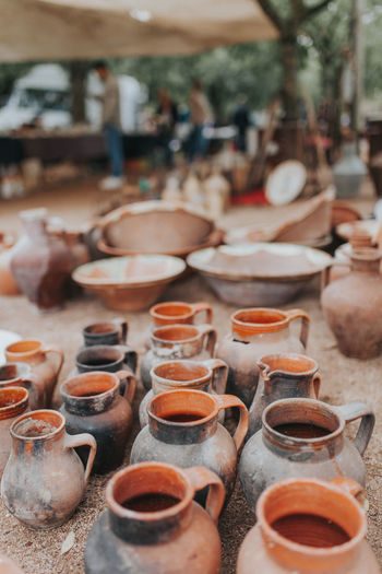 Estremoz Market Portugal Portugal Oficial Fotos Colection EyeEm© Clay Clay Work Claypot Earthenware Focus On Foreground Market Outdoors Portugal_em_fotos Portugal_lovers Portugaldenorteasul Portugaloteuolhar Table