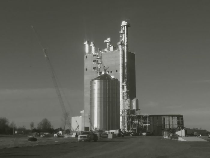Ohio Grain Elevator Silo New Construction Crainspotting. Farm Life Agriculture Winter Project Architecture Skyscraper Finance Built Structure Building Exterior Sky Outdoors No People Modern Day