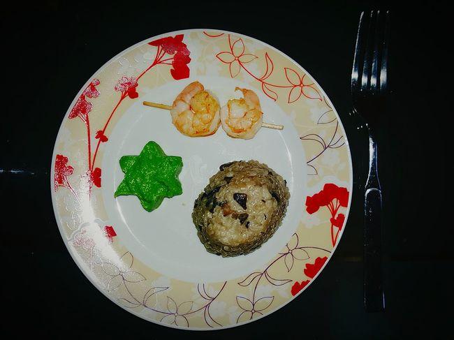Risotto RisottoalFUNGHI Garnelen Abendessen Erbsen Lecker Essen