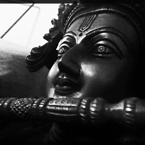 Every block of a stone has statue inside it n its d art of d sculptor to discover it ' Lordkrishna Idol Instaedit Clickoftheday Picoftheday Shades Fluteplayer PhotoManiac Sculpture Statues
