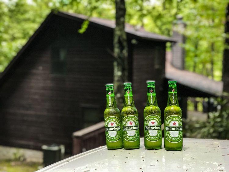 Wanderlust Heineken Woods Cabin Green Color Green Blueridgeparkwayvirginiausa No People Green Color Bottle Nature Built Structure Outdoors Beer Bottle Drink Day Plant Food And Drink
