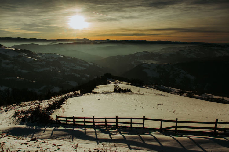 Winter landscape in sunset EyeEm Best Shots Serbia Beauty In Nature Canon Cold Temperature Landscape Mountain Mountain Range Nature No People Outdoors Scenics Sky Snow Srbija Sunlight Sunset Tranquil Scene Tranquility Winter