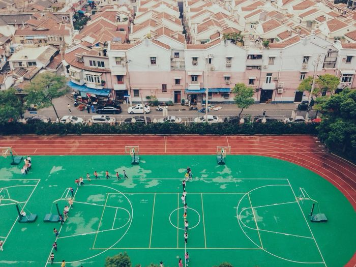 The view from the eighth floor of the school I used to teach at. Shanghai. Vscofilm Shanghai Pantone Colors By GIZMON Urban Sports