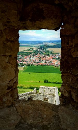 View over village from Spissky Castle, Slovakia Castle Village Spisskycastle Spissky Castle Slovakia Nature Medieval Medieval Castle Window Landscape