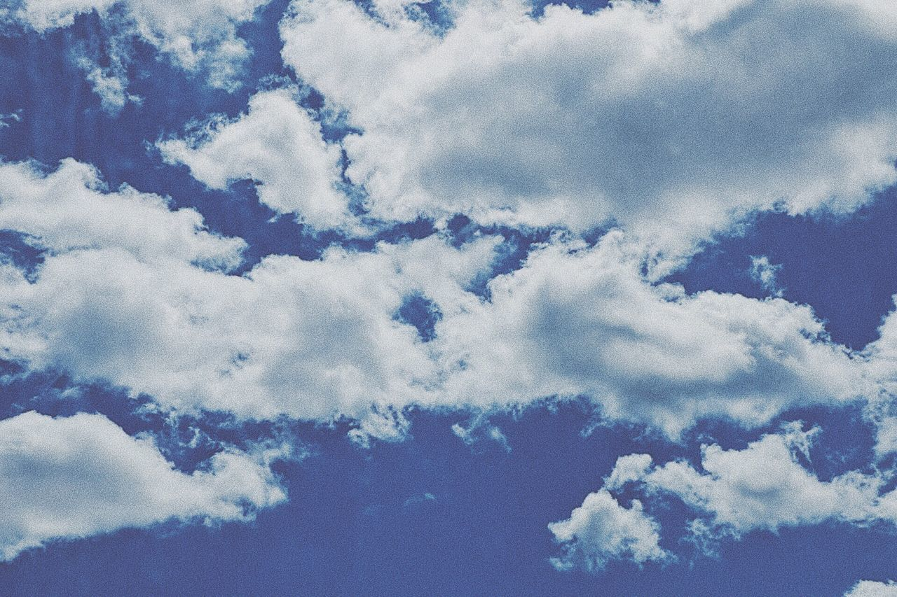 sky, beauty in nature, cloud - sky, nature, blue, backgrounds, full frame, white color, tranquility, scenics, low angle view, no people, softness, outdoors, day, sky only