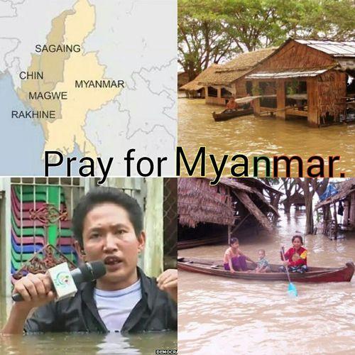 Myanmar Flooding . Pray For Myanmar. Save Myanmarburma