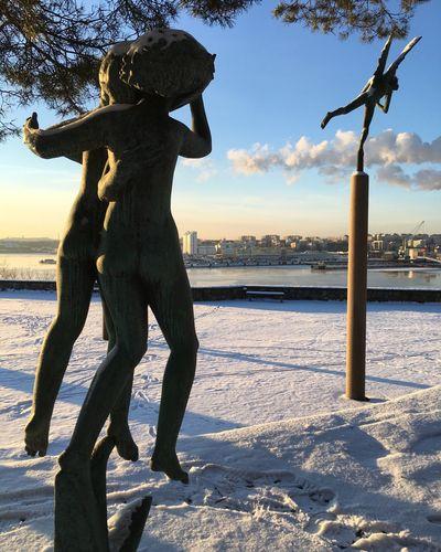 Winter at Millesgården Museum Stockholm Winter Snow