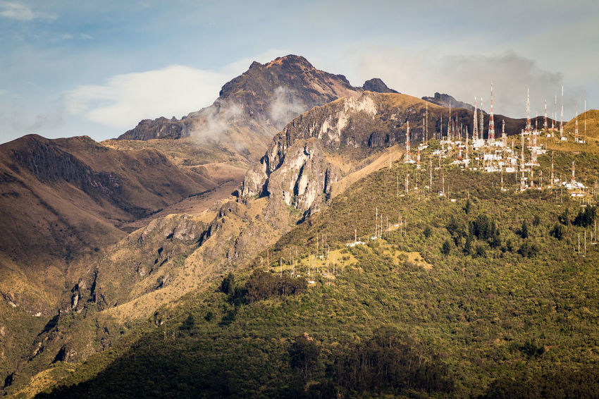 Andes Andes Mountains Rucu Pichincha Antennas Beauty In Nature Day Landscape Mountain Mountain Range Nature No People Outdoors Pichincha Scenics Sky Sunrise Tranquil Scene Tranquility Tree Tv Antennas This Is Latin America The Great Outdoors - 2018 EyeEm Awards