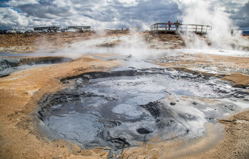 Solfatara Hot Spring Steam Heat - Temperature Water Geyser Geology Power In Nature Smoke - Physical Structure Natural Gas Physical Geography Day Nature Environment No People Landscape Fossil Fuel Power Outdoors Land Vehicle Mud