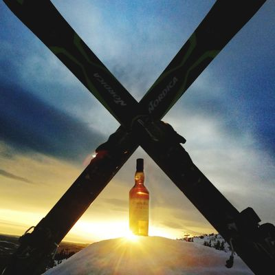 Skiing? Whisky Whiskyviewhunting Skiing EyeEm Selects X Cross Standrews Sky Outdoors Winter Day Close-up Shades Of Winter