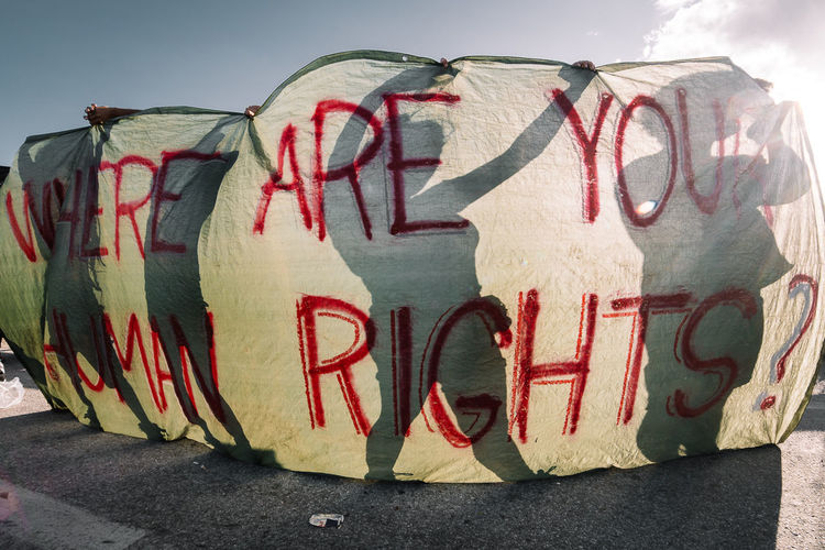 International volunteers protesting with banners along the highway that was used by the authorities to transport the refugees out of Idomeni to the official camps. Please continue to show your support for the crowdfunding campaign aimed at getting more baby milk and food supplies for the thousands of infants that are currently without them in the camps all across Greece. Link to the campaign can be found here: https://www.generosity.com/emergencies-fundraising/baby-milk-and-food-supplies-for-refugee-families Photojournalism Documentary Greece Human Rights Reportage EyeEm Masterclass EyeEm Gallery Refugees The Photojournalist - 2016 EyeEm Awards EyeEm Best Shots Fresh On Eyeem  Crisis Children Documentary Photography HUMANITY Refugee The Week On EyeEm Editor's Picks