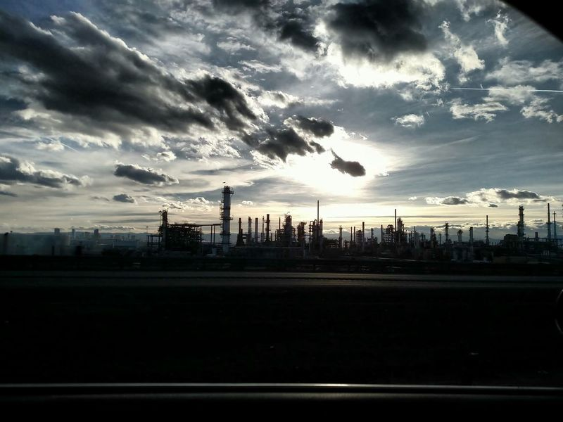 Industrial Influence Industrial Clouds And Sky Refinery Day Dark Clouds Landscape No People