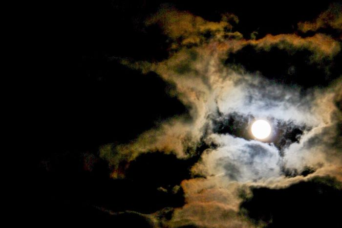 Space No People Cloud - Sky moon Beauty In Nature