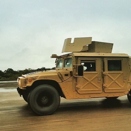 Army Hummer Soldiers Convoy
