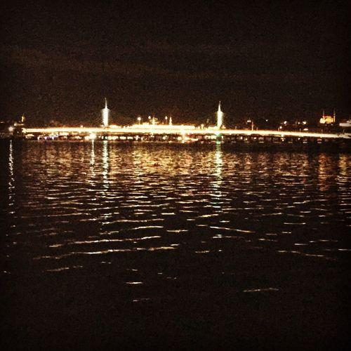 Night Istanbul - Bosphorus Galata Tower Galatakulesi Cahittiftik Project Marine Photography By