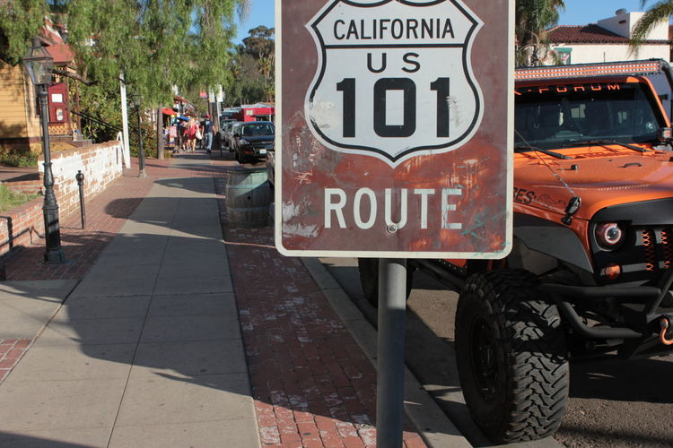 101 Taipei Cali California Route 101 SoCal California 101 Route Close-up Communication Day Highway 101 No People Outdoors Text Transportation