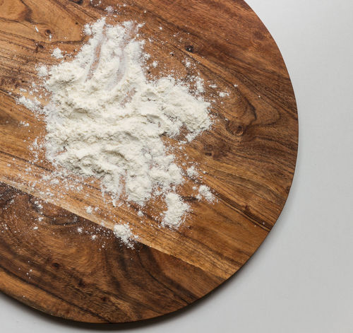 Above Board Brown Chopping Board Close-up Cutting Board Day Directly Above Directly Above Food Flou Flour Floured Flower Food Food And Drink Freshness Indoors  Ingredient Kitchen No People Still Life Table White Background Wood - Material Wood Grain